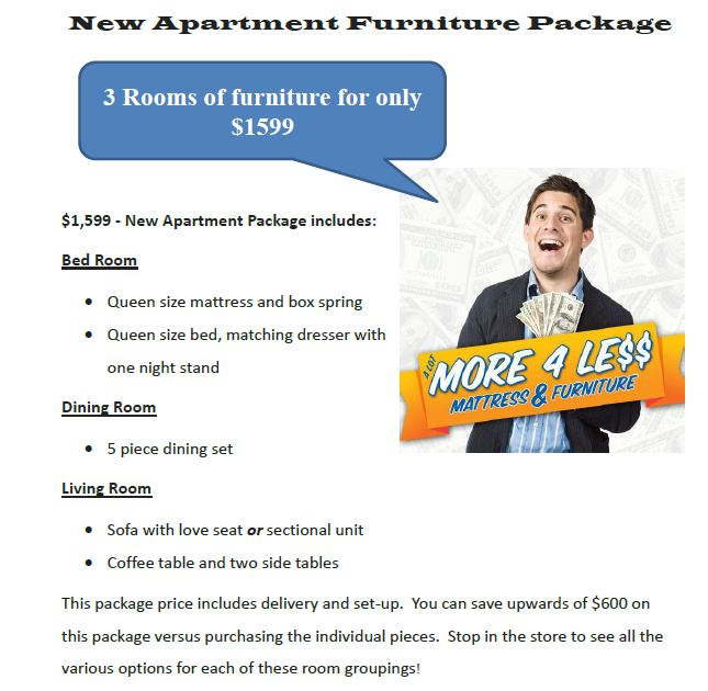 A Lot More Less New Apartment Furniture Packages